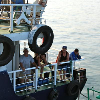 Crew of the water barge