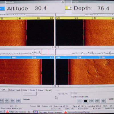 View of the Side-Scan Sonar Display