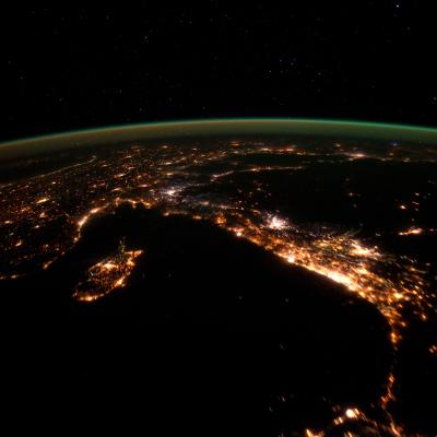 View of the eastern Mediterranean from the International Space Station