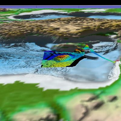 Bathymetry of the eastern Mediterranean Sea, including Eratosthenes Seamount