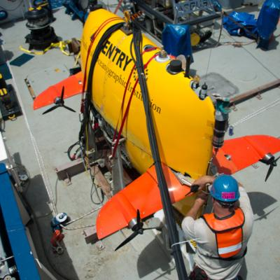 AUV Sentry on deck
