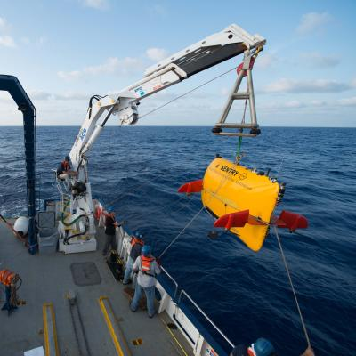AUV Sentry during launch