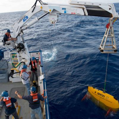 AUV Sentry released for launch
