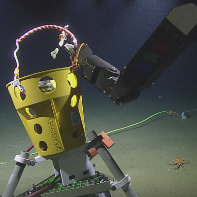 The Imagenex in position on the sea floor
