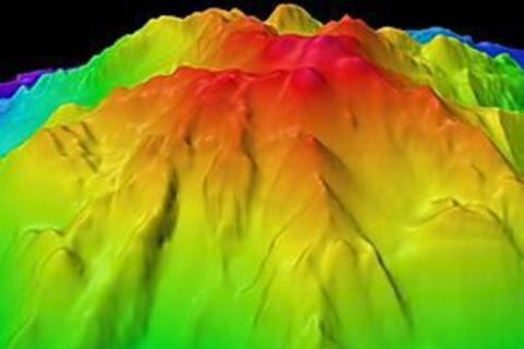 False color sonar image