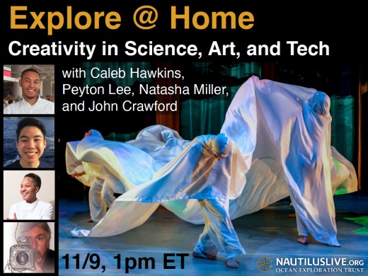 Explore at Home Banner for Creativity in Science Art and Tech
