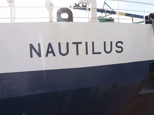 Bow of E/V Nautilus