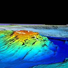 View of Eratosthenes Seamount from the northeast