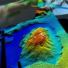 View of Eratosthenes Seamount from the southsouthwest