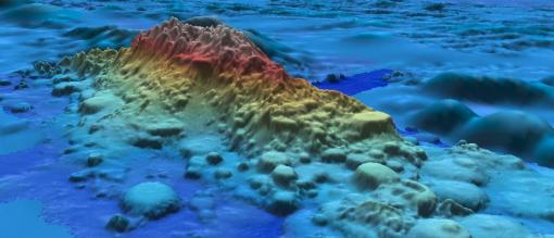 Mapping image of Moonless seamount