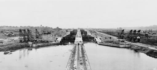 Historical photo of the Panama Canal